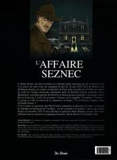Verso de Les grandes affaires criminelles et mystérieuses -1- L'affaire Seznec