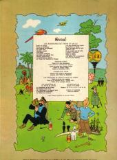 Verso de Tintin (Historique) -7B42- L'île noire