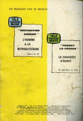 Verso de Télé série jaune (Au nom de la loi) -26- Quand souffle le Chinook