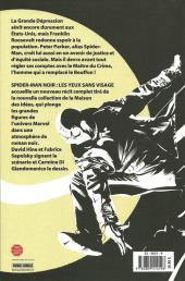 Verso de Spider-Man Noir -2- Les Yeux sans visage