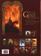 Verso de La geste des Chevaliers Dragons -11- Toutes les mille et une lunes