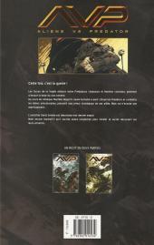 Verso de Aliens vs. Predator (Soleil) -2- Troisième guerre des mondes