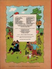 Verso de Tintin (Historique) -14B38bis- Le temple du soleil