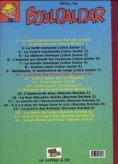 Verso de Bouldaldar et Colégram -11- Les frères Foitrois, suivi de Bémou-la-double-croche (Libre Junior 10 et 11, Pistolin 1 et 2)
