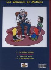Verso de Les mémoires de Mathias -2a- Le masque iroquois