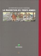 Verso de Blake et Mortimer (Publicitaire) -20BNP- La malédiction des trente deniers T2