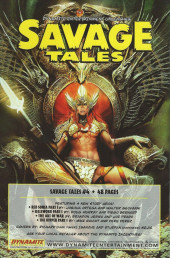 Verso de Savage tales (Dynamite - 2007) -3VC2- Issue #3