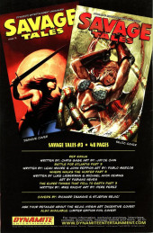 Verso de Savage tales (Dynamite - 2007) -2VC3- Issue #2