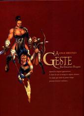 Verso de La geste des Chevaliers Dragons -4COF- Brisken