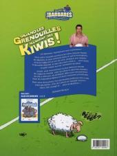 Verso de Les barbares -2- Quand les Grenouilles mangent des Kiwis !