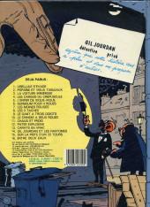Verso de Gil Jourdan -15b85- Sur la piste d'un 33 tours