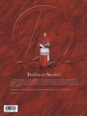Verso de Le triangle secret - Les Gardiens du Sang -3- Le Carnet de Cagliostro