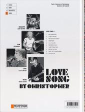Verso de Love Song -4- Greg
