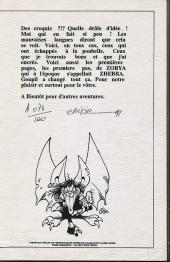 Verso de L'Épée de Cristal -HS- Carnet de croquis