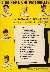 Verso de La patrouille des Castors -9a71- Le Traître sans visage