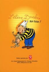 Verso de L'Élève Ducobu -Quick2- Premier en triche !