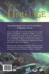 Verso de La légende de Drizzt -7- L'Héritage
