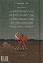 Verso de Les carnets (Moebius) - La faune de Mars