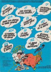 Verso de Gaston -R3 81- Gare aux gaffes du gars gonflé
