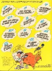 Verso de Gaston -12a1981- Le Gang des gaffeurs