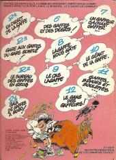 Verso de Gaston -13a1982/02- Lagaffe mérite des baffes