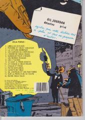 Verso de Gil Jourdan -1a- Libellule s'évade