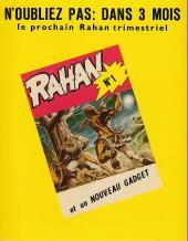Verso de Rahan (1re Série - Vaillant) -0HS- Le secret du soleil - la horde folle - le piège à poissons