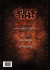 Verso de La compagnie des lames -1- Renaissance