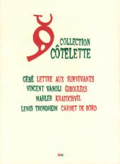 Verso de Carnet de bord -1- 1-10 décembre 2001