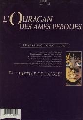 Verso de L'ouragan des âmes perdues -1- Justice de l'aigle