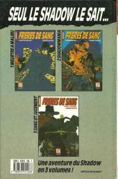 Verso de Super Héros (Collection Comics USA) -32- Shadow : Frères de sang 1/3 - Meurtres à Malibu