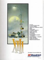 Verso de XIII -16Pub- Opération Montecristo