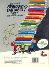 Verso de Spirou et Fantasio -5e83a- Les voleurs du Marsupilami