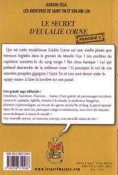 Verso de Les aventures de Saint-Tin et son ami Lou -9- Le secret d'Eulalie Corne