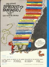 Verso de Spirou et Fantasio -3e79- Les chapeaux noirs