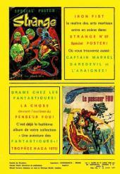 Verso de Spécial Strange -1- Les Fantastiques : Cataclysme
