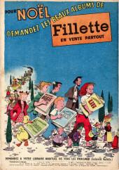 Verso de Fillette (Après-guerre) -HS54/11- N° spécial de Noël 1954