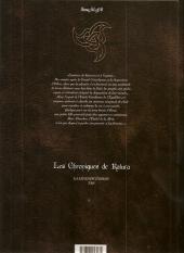 Verso de Les chroniques de Katura - La légende d'Eikos -1- Le seigneur des loups