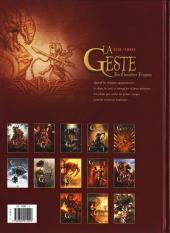 Verso de La geste des Chevaliers Dragons -12- Ellys