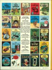 Verso de Tintin (Historique) -15C4- Tintin au pays de l'or Noir