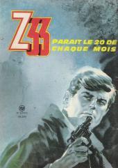 Verso de Z33 agent secret -76- Opération Voltaire