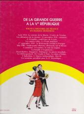 Verso de Histoire de France en bandes dessinées (Intégrale) -8FL- De la Grande Guerre à la Ve République
