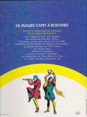 Verso de Histoire de France en bandes dessinées (Intégrale) -2FL- De Hugues Capet à Bouvines