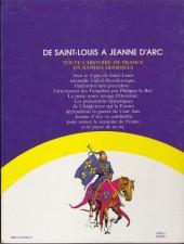 Verso de Histoire de France en bandes dessinées (Intégrale) -3FL- De Saint-Louis à Jeanne d'Arc