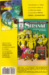 Verso de Strange (Spécial Origines) -250bis- Strange 250 bis