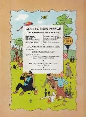 Verso de Tintin (Historique) -14B13- Le temple du soleil