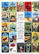 Verso de Tintin (Historique) -9C2- Le crabe aux pinces d'or