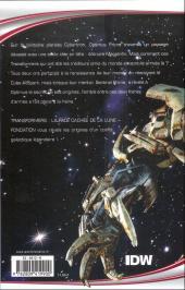 Verso de Transformers (Fusion Comics) -3- La Face cachée de la Lune - Fondation