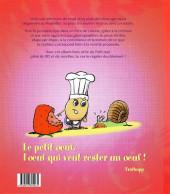 Verso de Le petit œuf -HS1- Les Recettes du petit œuf