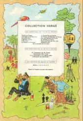 Verso de Tintin (Historique) -14B17- Le temple du soleil